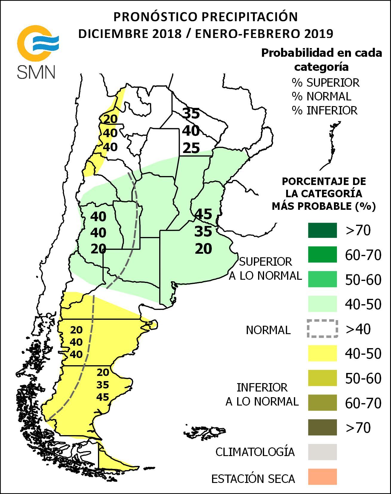 Pronóstico Climático Trimestral Dic 2018 Ene Feb 2019 Servicio